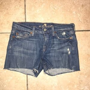 7 For All Mankind Jean Shorts Size 24